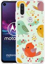 Motorola One Action Hoesje Cute Birds