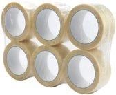 6 rollen PP acryl verpakkingstape transparant
