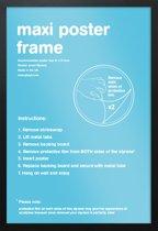 Wissellijst-Posterlijst-houten zwarte rand-formaat 50x70cm. Aanbieding