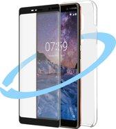 Azuri voor en achterkant protectiepack - transparant - voor Nokia 7 plus