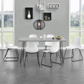 [en.casa]® Eettafel met pinpoten - 160x75 - Betonlook
