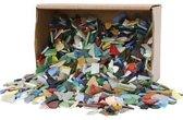Mozaiek, afm 8-20 mm, dikte 2-3 mm, diverse kleuren, Kleuren selectie, 2kg