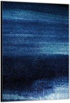 Dibond –Blauwe Stippen – 60x90cm Foto op Dibond;Aluminium (Wanddecoratie van metaal)