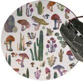 muismat Paddestoel Cactus - met textiel toplaag - rond 20 cm