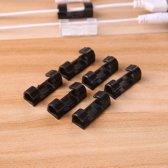 Originele Zelfklevende Kabelclips – Kabelklemmen – 40 stuks - Kabelklemmetjes  - 3M plakzijde – Kabel Organizer - Zwart