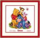 Vervaco Disney borduurpakket geboortetegel Winnie the Pooh en vrienden pn-0014846