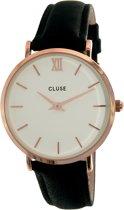 CLUSE CL30003 Minuit - Horloge - Dames - Zwart - Ø 33 mm