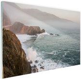 Kliffen Amerika Glas 90x60 cm - Foto print op Glas (Plexiglas wanddecoratie)