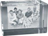 2D Foto in hoogwaardig glas. Afm: 120 x 80 x 80 mm Liggend formaat