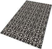 Moderne loper Pattern - zwart/crème 80x300 cm