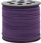 Faux Suede Veter (3 mm) Purple (90 Meter)