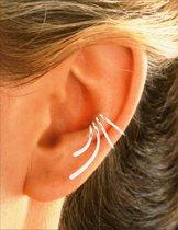 EarCatchers ear cuff – gerhodineerd sterling zilver - Wave XS set