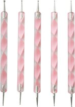Veronica NAIL-PRODUCTS Dotting tool set, 5 delig ROZE voor nail art.