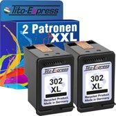 PlatinumSerie® 2 cartridges 302 alternatief voor HP XL black