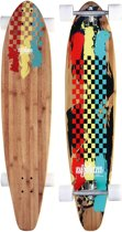 Longboard 42 Kicktail Bamboo • Rasta Revolution •, Rood/Geel/Groen, Uni