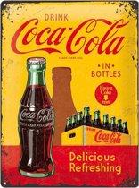 Muurplaat drink Coca Cola 30 x 40 cm