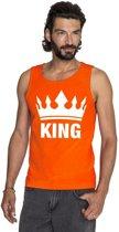 Oranje Koningsdag King tanktop shirt/ singlet heren XL