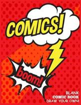 Blank Comic Book Draw your Own Comics Boom