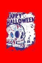 Happy Halloween: Dot Grid Journal - Sugar Skull Happy Halloween Costume Cool Easy Halloween Gift - Red Dotted Diary, Planner, Gratitude