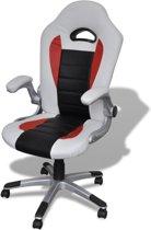 vidaXL - Bureaustoel Kunstlederen bureaustoel modern wit