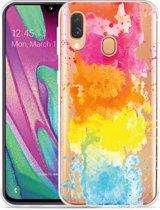 Galaxy A40 Hoesje Color Splatters