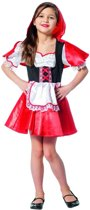 Roodkapje Kostuum | Grootmoeders Schatje Roodkapje | Meisje | Maat 116 | Carnaval kostuum | Verkleedkleding
