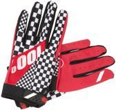 100% Ridefit - Fietshandschoenen - Rood - Maat M