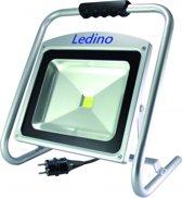 LED schijnwerper / bouwlamp 50W 6000K 220V met aangegoten stekker