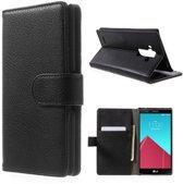LG G4 Portemonnee Hoesje Case Zwart