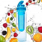 #DoYourFitness - Fruitwater fles - »FruitInfusior« - Fruit infuser voor fruitpunches / groente spritzers - 800ml - turquoise