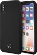 Mercedes-Benz Zwart Silicone Case Hoesje voor iPhone X / Xs