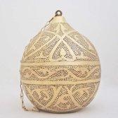 Nour Lifestyle Arabische hanglamp Haifa goudkleurig met Oosters patroon - maat M