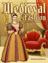 Adult Coloring Books Medieval Fashion