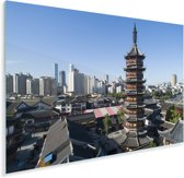 Heilige tempel in de Chinese stad Wuxi Plexiglas 120x80 cm - Foto print op Glas (Plexiglas wanddecoratie)