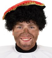 Zwarte Piet pruik voor volwassenen