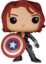 Funko: Pop Black Widow with Captain America's Shield