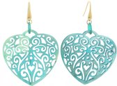 TURQUOISE FILIGREE HEARTS
