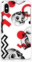 iPhone X | Xs Hardcase Hoesje Design Skull Red