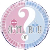 Folieballon Boy or Girl 45x45 cm