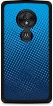 Motorola Moto G7 Play Hardcase hoesje lichtblauwe cirkels