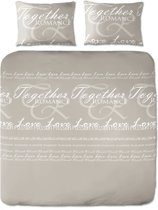 Day Dream Yvette dekbedovertrek - tweepersoons - 200x200/220 - Beige