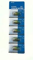 5 stuks 4lr44 Batterijen - 6 Volt - Voordeelpak