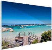 Strand Australie Glas 180x120 cm - Foto print op Glas (Plexiglas wanddecoratie) XXL / Groot formaat!