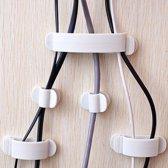 Kabelleiders - Groepeer uw kabels gemakkelijk - Kabel organizer - Set van 10 stuks