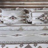 Refined flanel Utah dekbedovertrek - Grijs - Lits-jumeaux (240x200/220 cm + 2 slopen)
