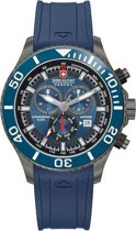 Swiss Military Hanowa 06-4226.30.003.03 quartz  blauw - rubber band 10 ATM (zwemmen)