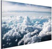 In de wolken Aluminium 120x80 cm - Foto print op Aluminium (metaal wanddecoratie)