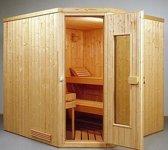Elementen sauna Lahti Klassiek hoek 201 x 139 x 198 cm.
