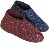 Dames Dunlop Pantoffels Betsy Rood Maat 40