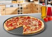 Pizza vorm - 32 cm diameter - 5 jaar garantie - Anti aanbak - Pizzavorm - Teflon - Pizzaplaat | Pizzavorm | Bakplaat Voor Pizza